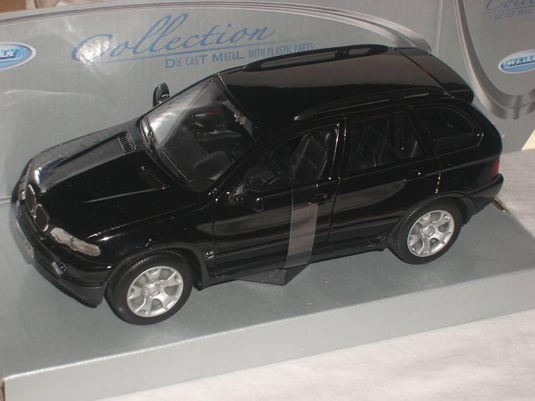 BMW X5 E53 Suv Schwarz 1999-2006 1//24 Welly Modell Auto mit oder ohne individi..